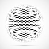 Biała 3D halftone wektorowa sfera Kropkowany bańczasty tło logo Zdjęcie Stock