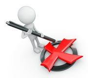 Biała 3d istota ludzka - czerwonego krzyża symbol Obrazy Stock