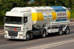 Biała DAF ciężarówka Fotografia Stock