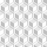 Biała dekoracyjna 3d tekstura - bezszwowy tło ilustracji