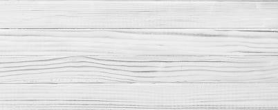 Biała drewniana deska jako tekstura i tło Obrazy Royalty Free