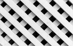 Biała drewniana płotowa tło tekstura, kwadrata wzór Zdjęcie Royalty Free