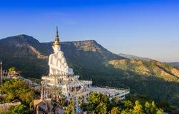 Biała duża Buddha statua Obrazy Stock