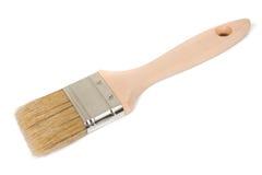 biała farba pędzel odizolowane Fotografia Stock