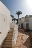 Biała fasada budynek w Egipt obrazy royalty free