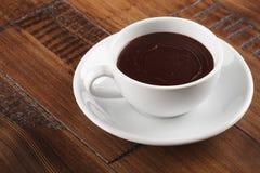 Biała filiżanka słodka czekolada Zdjęcia Stock