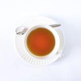 Biała filiżanki herbata na białym tle Zdjęcia Stock