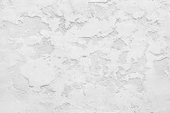 Biała gipsowa ośniedziała ściana Fotografia Royalty Free
