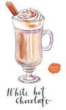 Biała gorąca czekolada ilustracji