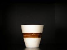 Biała herbaciana filiżanka Zdjęcia Royalty Free