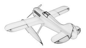 Biała hydroplan sieć 3 d czynią ilustracja wektor