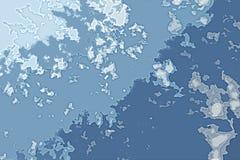 Biała i błękitna abstrakcjonistyczna tło tekstura Fantazji mapa z północną linią brzegową, morze, ocean, lód, góry, chmury zdjęcie royalty free