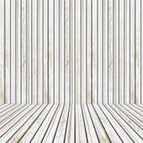 Biała i brown Drewniana scena dla reklamować pojęcia rozrywki odosobniony biel Zdjęcia Stock