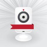 Biała kamera internetowa Zdjęcie Stock