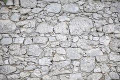 Biała kamienna ściana - tło fotografia stock