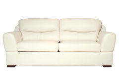 biała kanapa fotografia stock