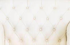 Biała kanapy tekstura Obraz Stock