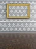 Biała kanwa na ścianie Fotografia Royalty Free
