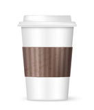 Biała kawa iść filiżanka ilustracja wektor