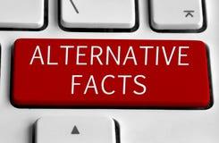 Biała klawiatura z Alternatywnym fact guzikiem zdjęcia royalty free