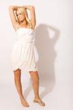 biała kobieta ujęcia badań Zdjęcie Royalty Free