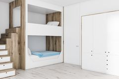 Biała koi szafa i łóżko ilustracji
