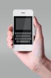 Biała kolor klawiatura na smartphone Obrazy Stock