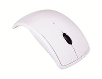 Biała komputer osobisty mysz obraz stock
