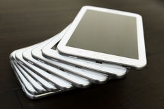 Biała komputer osobisty pastylka zdjęcia royalty free