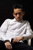 biała koszula człowieka zdjęcia stock