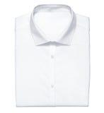 Biała koszula odizolowywająca na bielu Zdjęcia Royalty Free