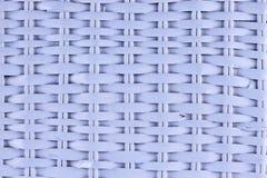 Biała koszykowa tekstura w zbliżeniu Zdjęcie Royalty Free