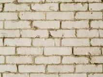 Biała kraju stylu ściana z cegieł tła fotografia Obrazy Stock