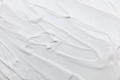 biała kremowa tekstura dla wzoru i tła Zdjęcie Stock