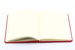 Biała książka otwarta Obrazy Stock