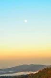 Księżyc w ranku Zdjęcia Royalty Free