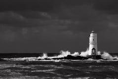 Biała latarnia morska Obrazy Royalty Free