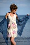 Biała lato suknia zdjęcia royalty free