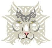 Biała lew głowa Fotografia Royalty Free