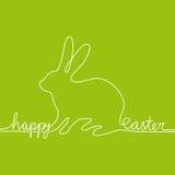 Biała linia czyta szczęśliwemu Easter kształtującej zając Zdjęcia Royalty Free