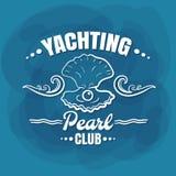 Biała literowanie jachtingu klubu perła Zdjęcie Royalty Free