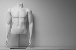 Biała męska mannequin półpostać Obrazy Royalty Free