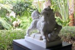 Biała marmurowa kirin rzeźba, adobe rgb zdjęcie stock