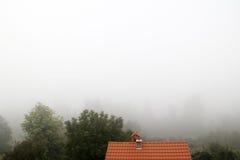 Biała mgła Zdjęcia Royalty Free