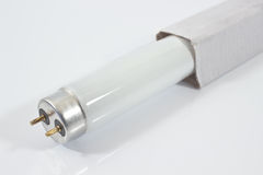 Biała neonowa tubka Obraz Royalty Free