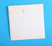 Biała płyty kompaktowa koperta Fotografia Stock