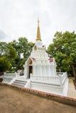 Biała pagoda przy Wata Doi Mae ssanie w żołądku Zdjęcie Stock