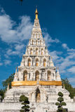 biała pagodowa świątynia w Chiang Mai Obraz Stock