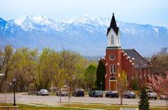 Biała Pamiątkowa kaplica podczas dnia, Salt Lake City Zdjęcia Royalty Free