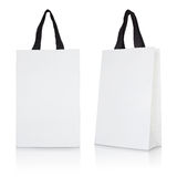 Biała papierowa torba Obrazy Royalty Free
